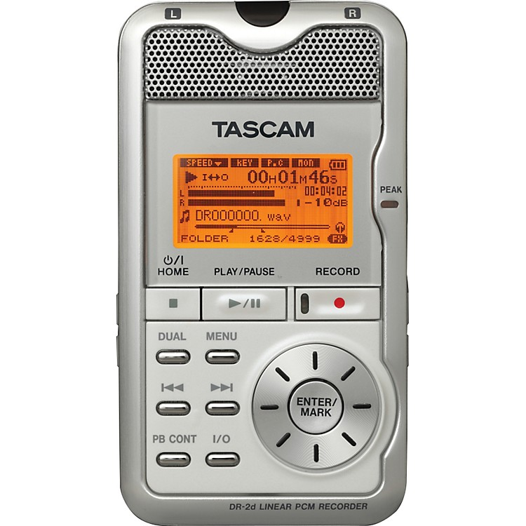 TASCAM DR-2d Portable Digital Recorder White