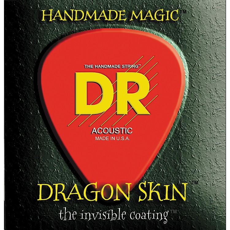 DR StringsDSA-12 Dragon Skin Coated Medium Acoustic Guitar Strings 3-Pack