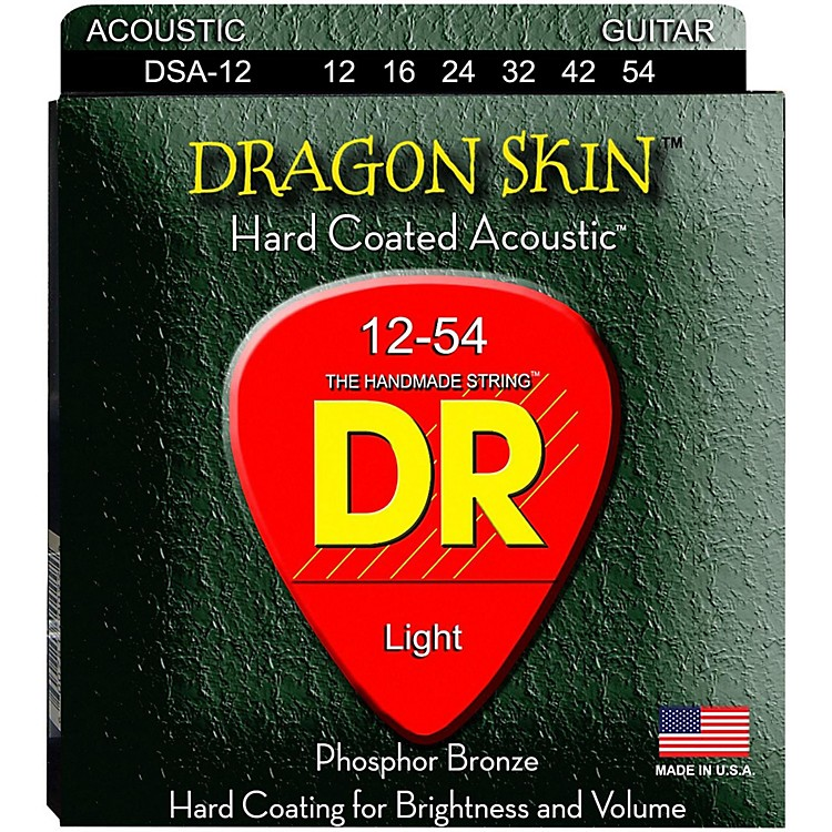 DR Strings DSA-12 Dragon Skin K3 Coated Acoustic Strings Medium