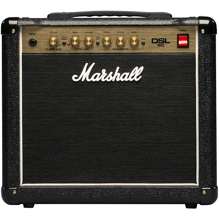 Marshall DSL5C 5W 1x10 Tube Guitar Combo with Celestion Ten-30 Black