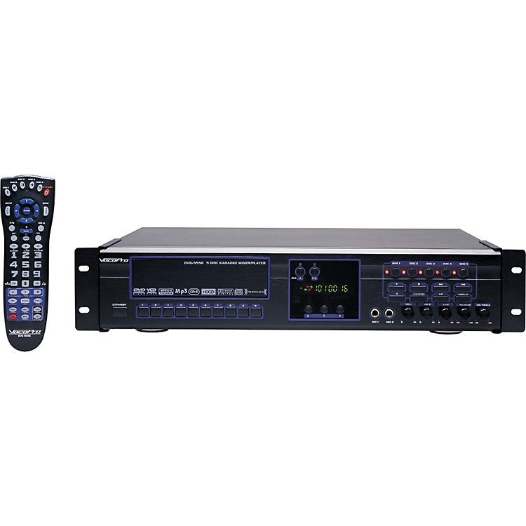 VocoPro DVG-555K 5-Disc DVD/CDG/VCD/MP3/MP4/Photo-CD Karaoke Changer