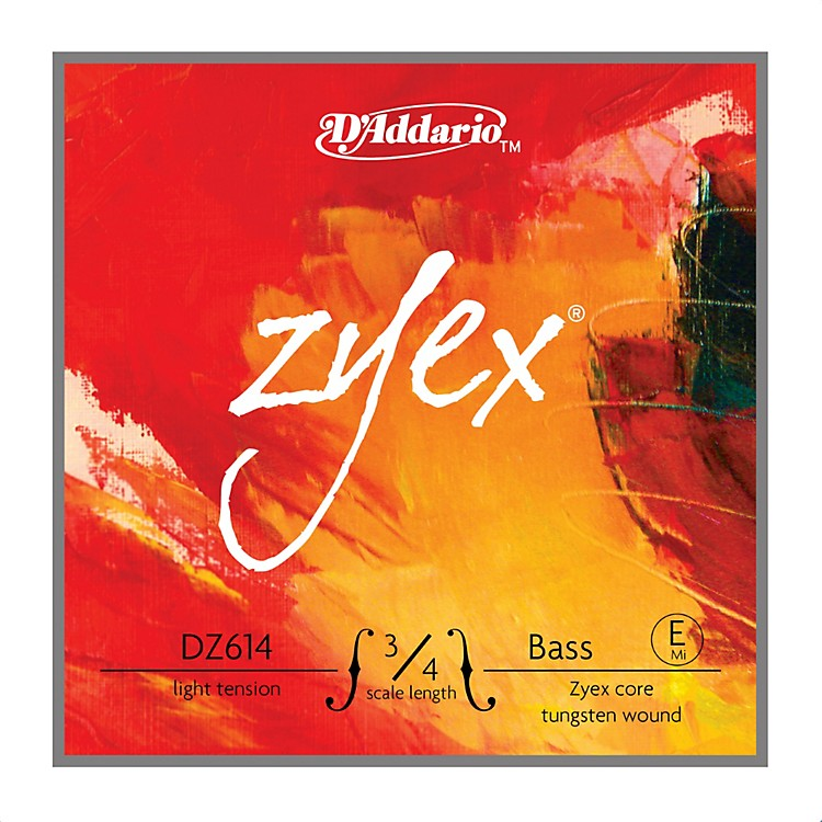 D'Addario DZ614 Zyex 3/4 Bass Single E String