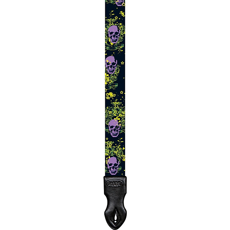 Onori Dacron Art Guitar Strap Royal Skull