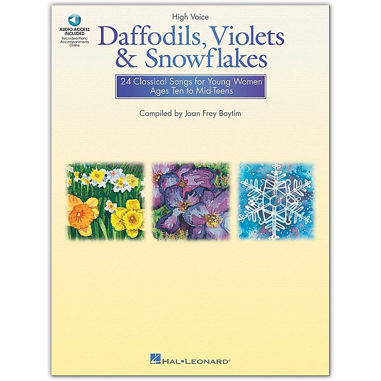 Hal LeonardDaffodils, Violets And Snowflakes for High Voice Book/CD