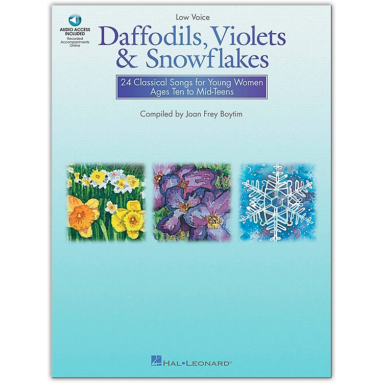 Hal Leonard Daffodils, Violets And Snowflakes for Low Voice Book/CD