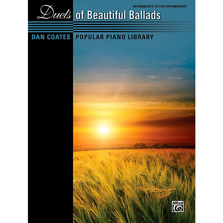 Alfred Dan Coates Popular Piano Library Duets of Beautiful Ballads Book