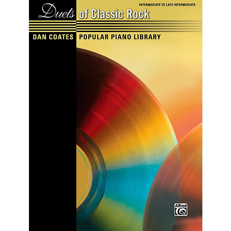 Alfred Dan Coates Popular Piano Library Duets of Classic Rock Intermediate / Late Intermediate Piano Book