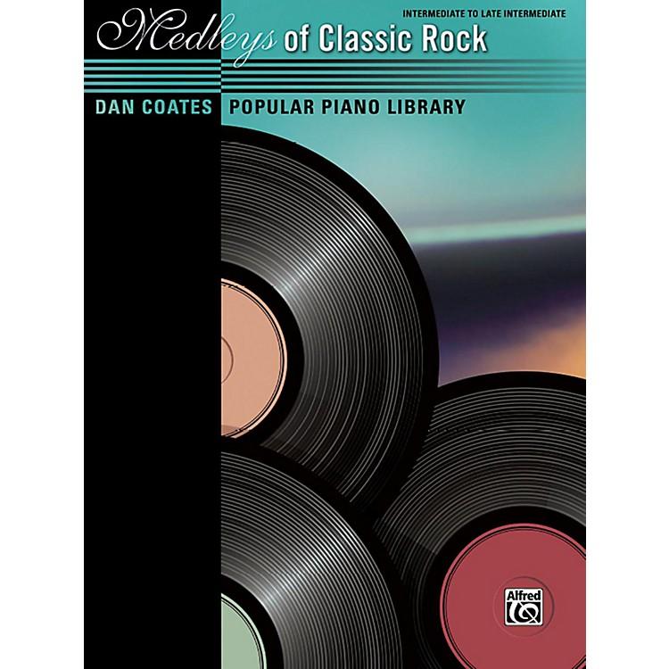 AlfredDan Coates Popular Piano Library Medleys of Classic Rock Intermediate / Late Intermediate Piano Book