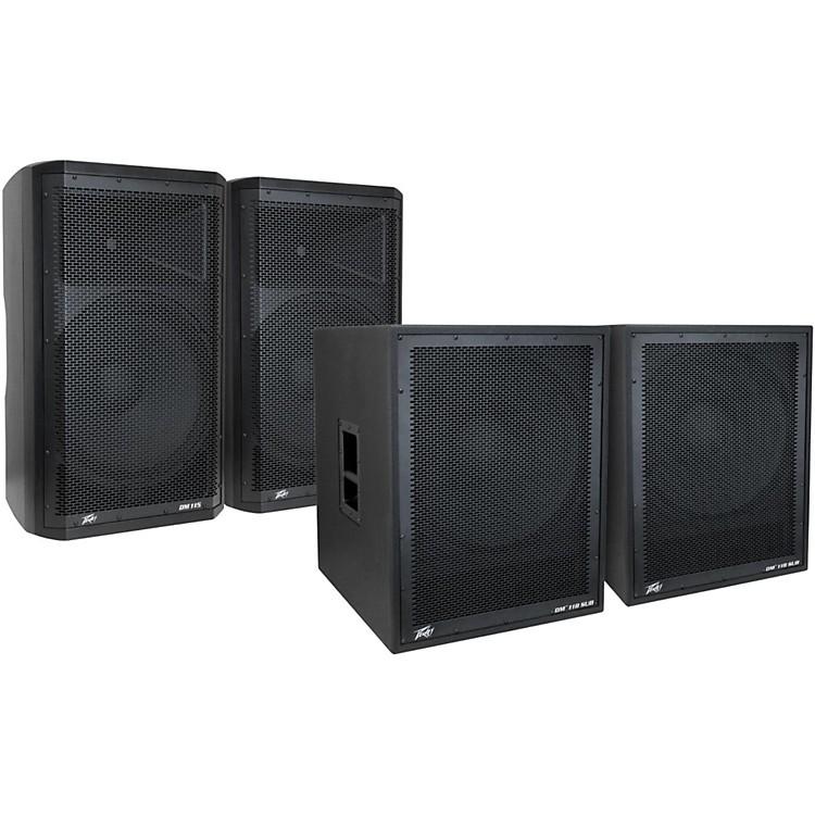PeaveyDark Matter DM115 Powered Speaker and DM118 Sub Pair