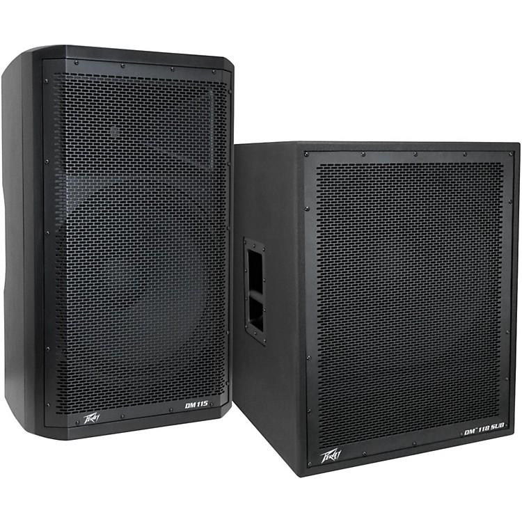 PeaveyDark Matter DM115 Powered Speaker and DM118 Sub