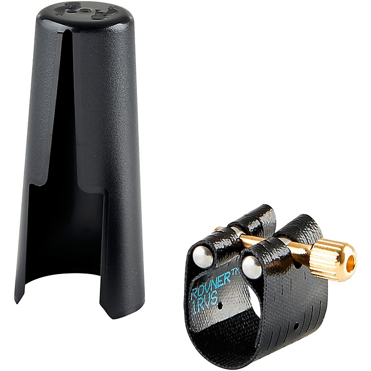 RovnerDark Soprano Saxophone Ligature and Cap1RVS - Fits Most Rubber Soprano Sax Mouthpieces