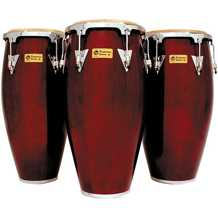LP Darkwood Performer Series 3-Piece Conga Set