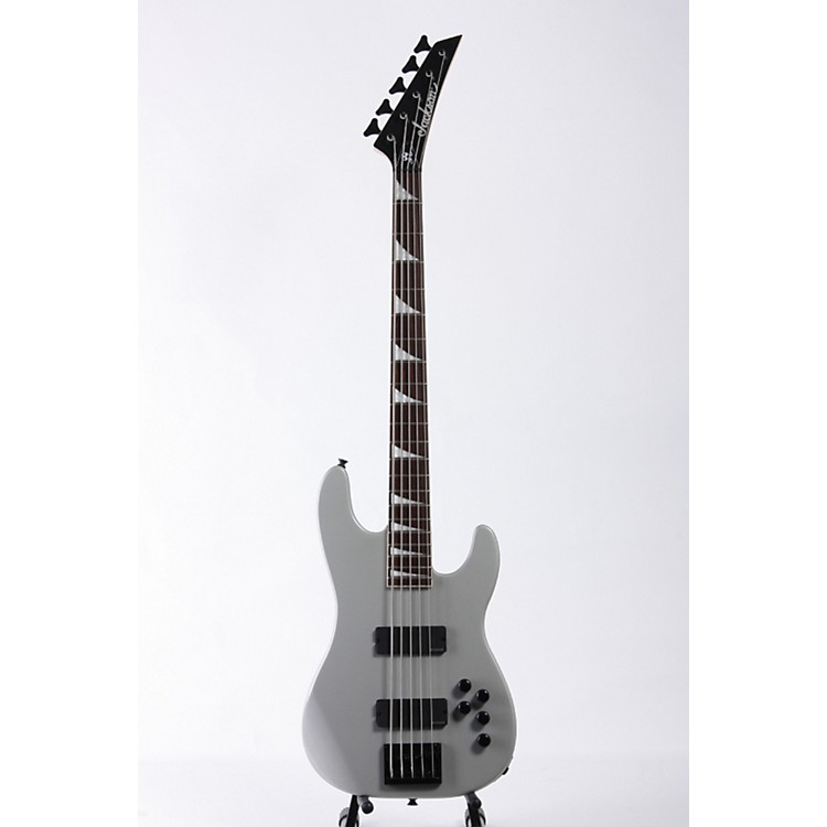 Jackson Dave Ellefson Signature CBXV 5-String X Series Electric Bass Guitar Quicksilver with Black Bevels 886830351716