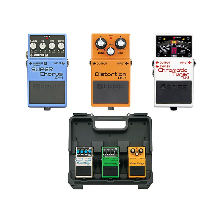 BossDave Navarro Pedal Pack (CH-1, TU-3, DS-1) with Free BCB30 Pedal Board