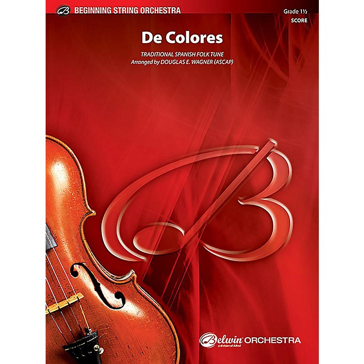 AlfredDe Colores String Orchestra Grade 1.5 Set