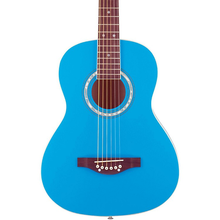 Daisy Rock Debutante Junior Miss Short Scale Acoustic Guitar Cotton Candy Blue