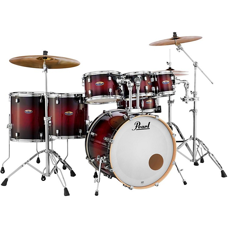 Pearl Decade Maple 7-Piece Shell Pack Gloss Deep Red Burst
