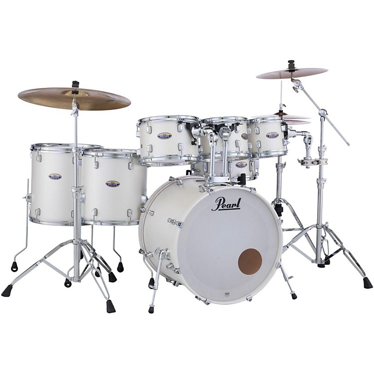 Pearl Decade Maple 7-Piece Shell Pack White Satin Pearl