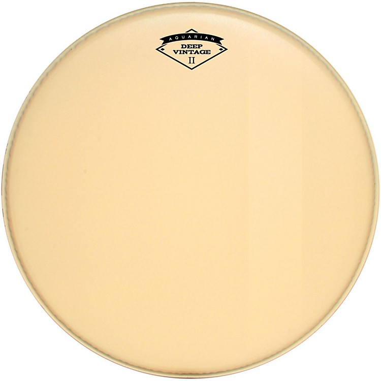 Aquarian Deep Vintage II Bass Drumhead with Felt Strip 24 in.