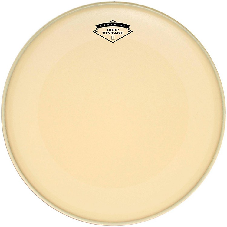 Aquarian Deep Vintage II Bass Drumhead with Super-Kick 22 in.