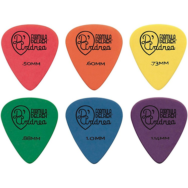 D'Andrea Delrex Delrin Guitar Picks - One Dozen Green .88 mm