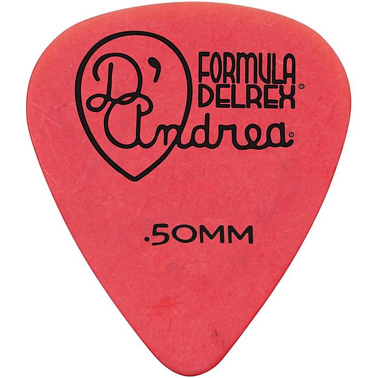 D'AndreaDelrex Delrin Guitar Picks - One DozenRed.50MM