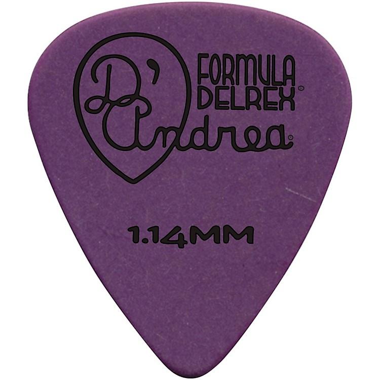 D'AndreaDelrex Delrin Guitar Picks One DozenPurple1.14MM