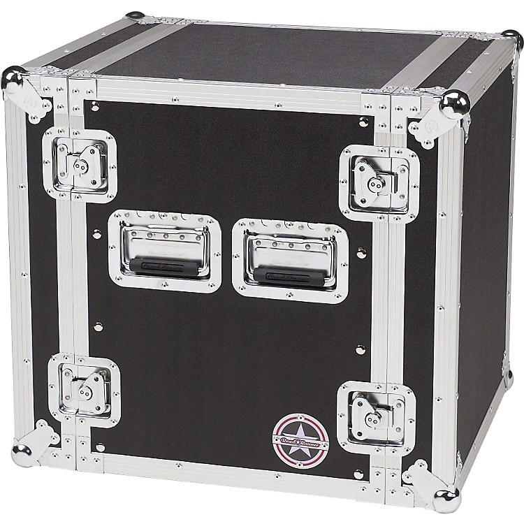 Road Runner Deluxe 12U Amplifier Rack Case Black