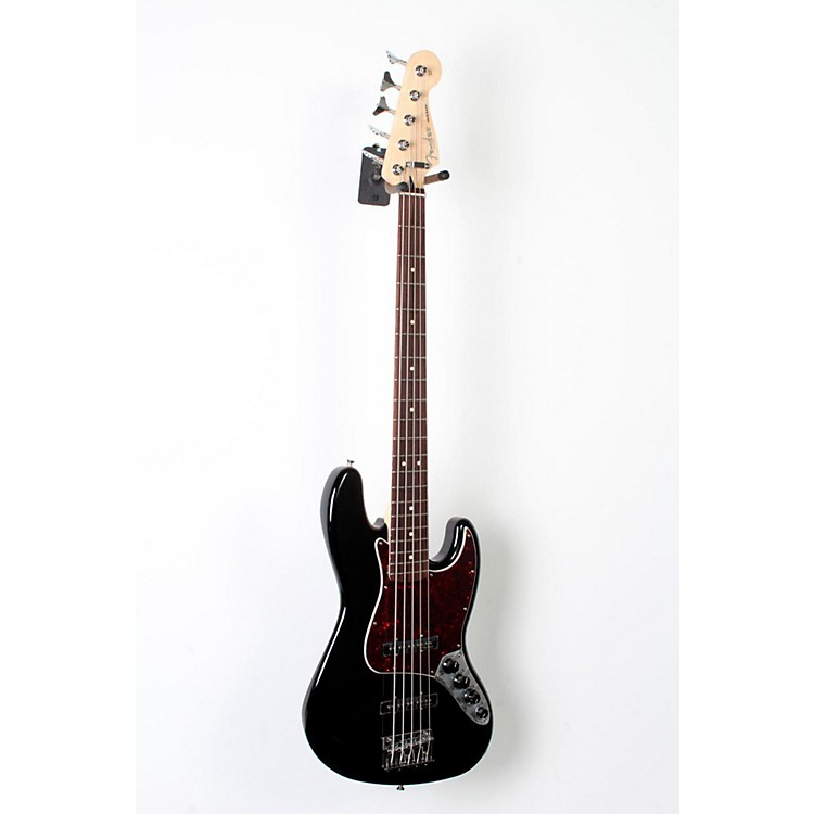 Fender Deluxe Active Jazz Bass V Black, Pao Ferro 888365827162