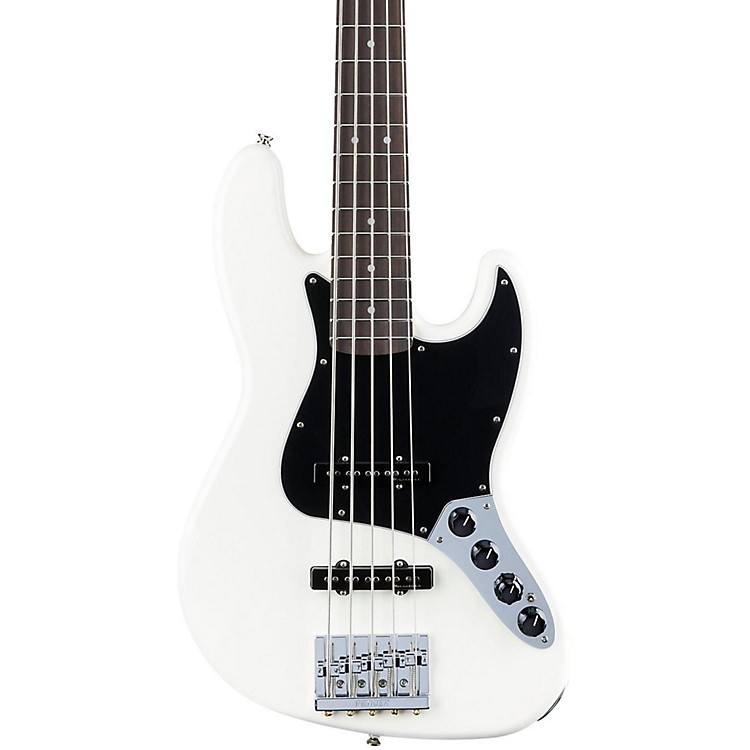Fender Deluxe Active Jazz Bass V Rosewood Fingerboard Olympic White