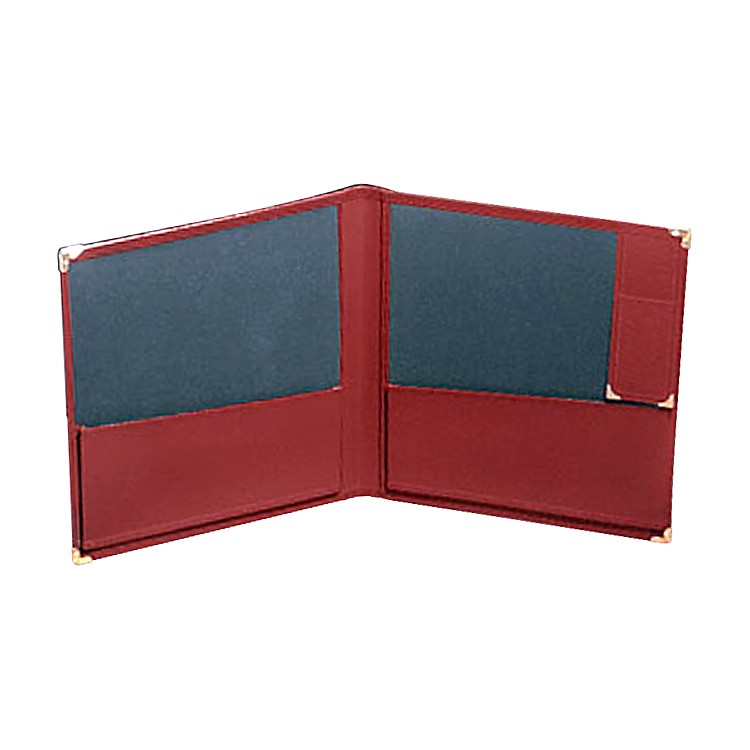 Deer RiverDeluxe Grand Concert Band Folio With Pencil HolderRed