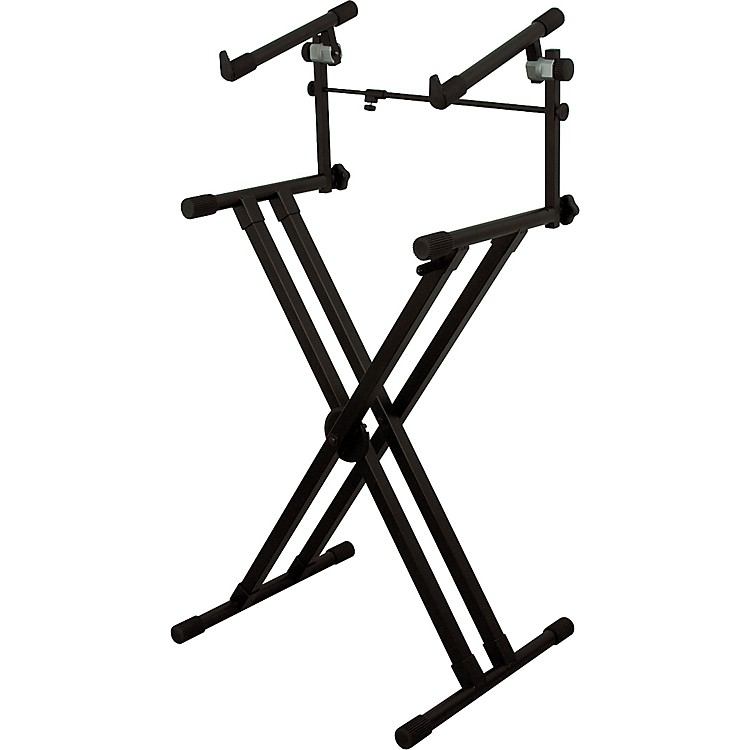 On-Stage StandsDeluxe Heavy Duty X 2-Tier Keyboard Stand