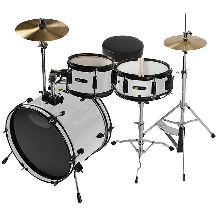 Sound Percussion Deluxe Jr. 3-Piece Drum Set White