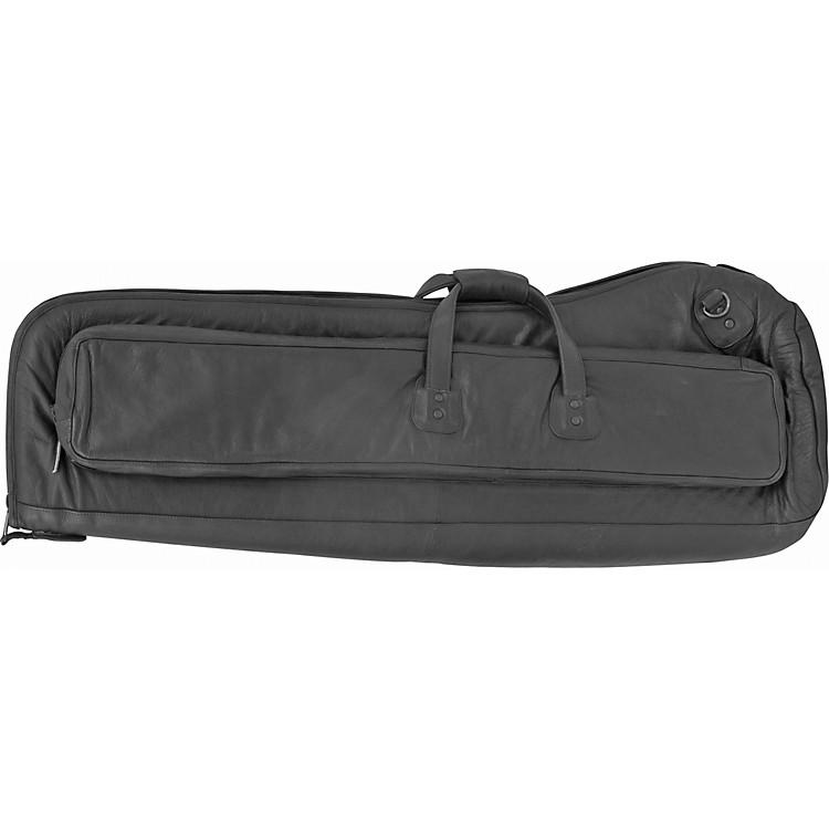 GardDeluxe Leather Trombone Gig BagLeather Bass Trombone 10.5 in. Bell Backpack
