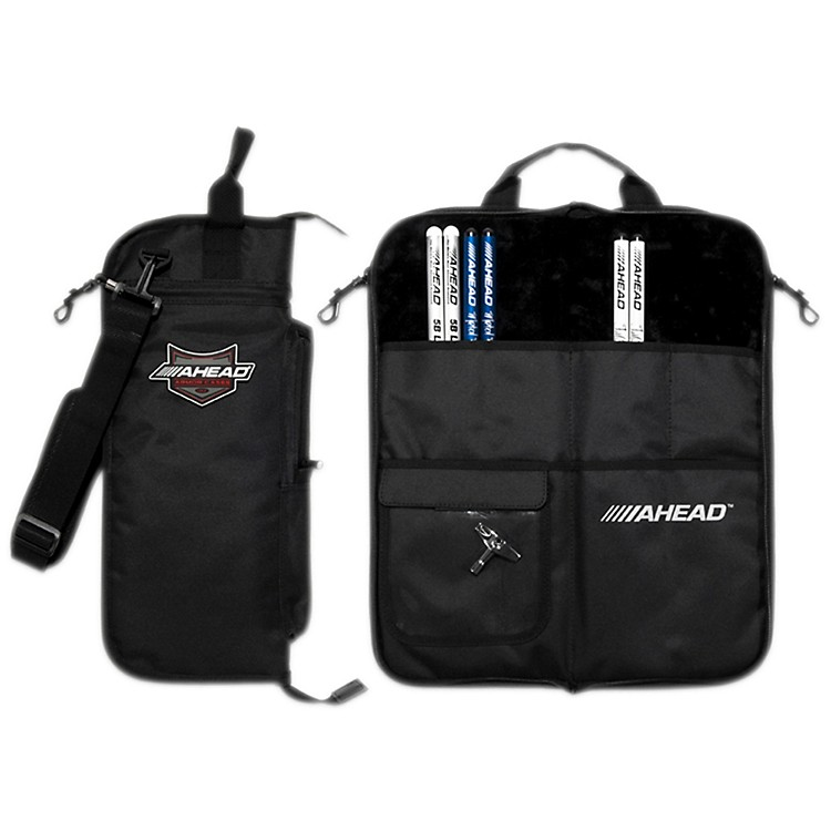 Ahead Deluxe Stick Case Black with Black Trim Plush interior