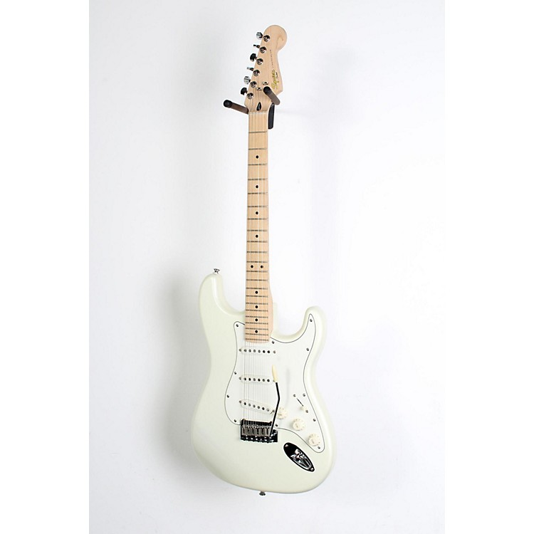 squier deluxe strat electric guitar pearl white metallic 190839051516 music123. Black Bedroom Furniture Sets. Home Design Ideas