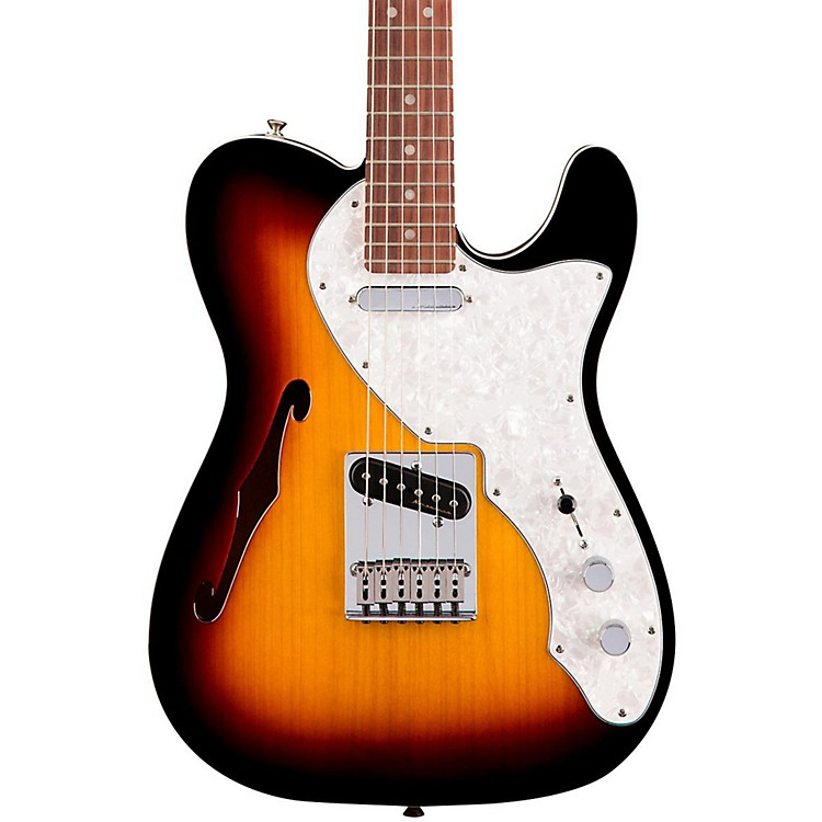 Fender Deluxe Thinline Telecaster Rosewood Fingerboard 3-Color Sunburst