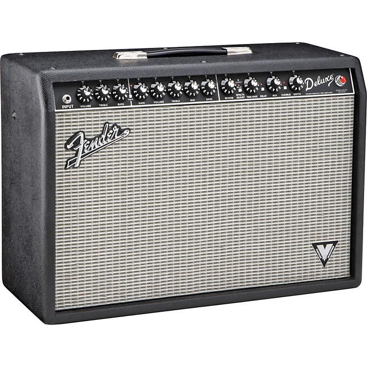FenderDeluxe VM 40W 1x12 Tube Guitar Combo AmpBlackSilver Grille