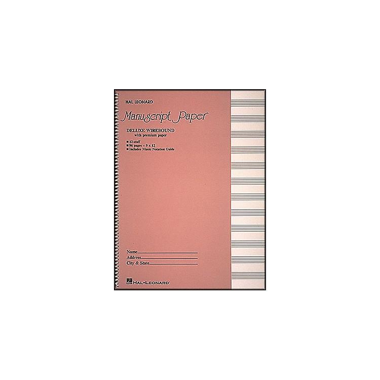 Hal LeonardDeluxe Wirebound Premium Manuscript Paper