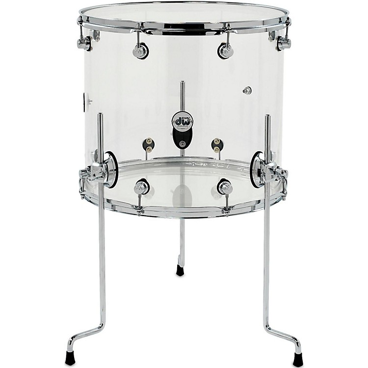 DWDesign Series Acrylic Floor Tom with Chrome Hardware18 x 16 in.Clear