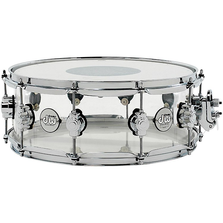 DWDesign Series Acrylic Snare Drum with Chrome Hardware14 x 5.5 in.Clear