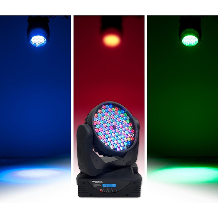 Elation Design Wash LED Zoom Moving Head Fixture Black