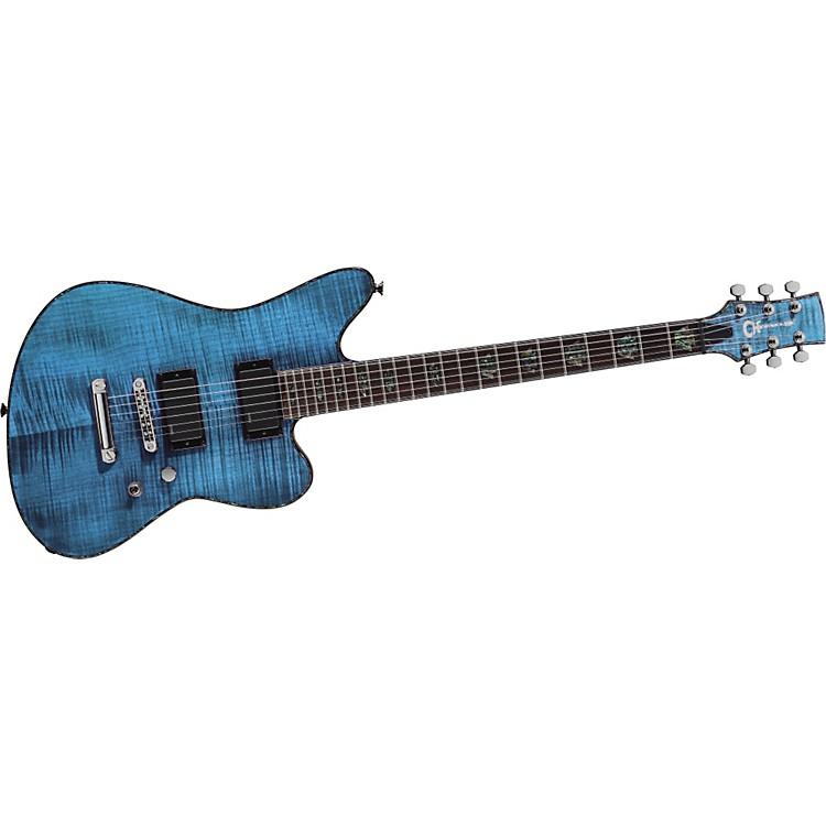 CharvelDesolation Skatecaster 1 Electric GuitarTransparent Blue Smear