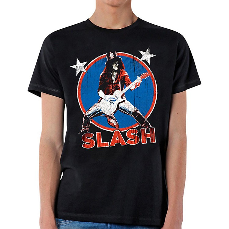 Slash Deteriorated Stars T-Shirt Large