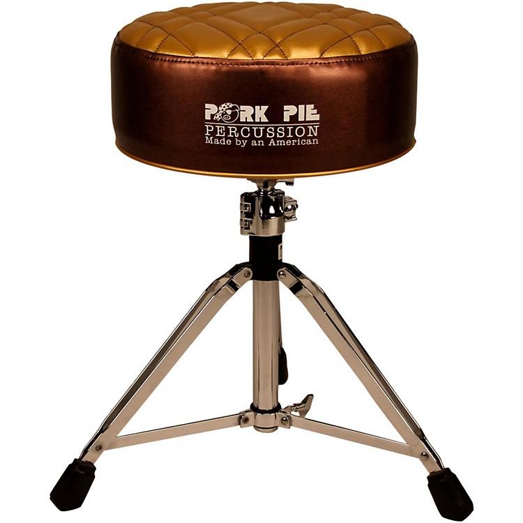 Pork PieDeuce Half Tuck Round Drum ThroneMetallic Bronze with Gold Top