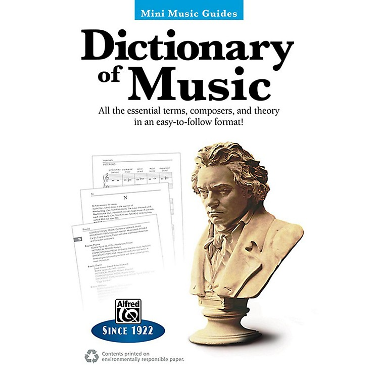 AlfredDictionary of Music Mini Music Guides Book