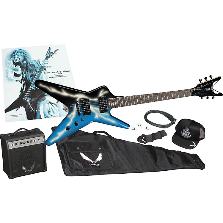 Dean Dimebag Darrell Lightning Bolt Baby ML Guitar and Amp Pack