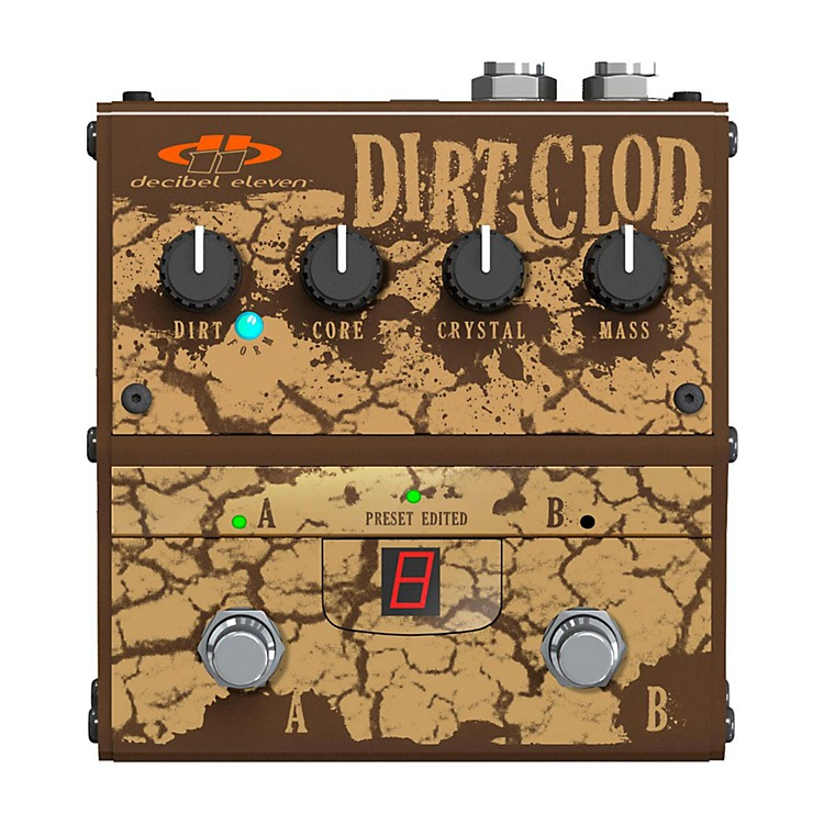 Decibel ElevenDirt Clod Analog Overdrive-Distortion Guitar Effects Pedal