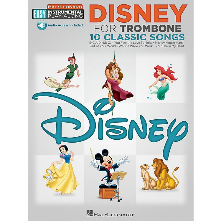 Hal Leonard Disney - Trombone - Easy Instrumental Play-Along Book with Online Audio Tracks