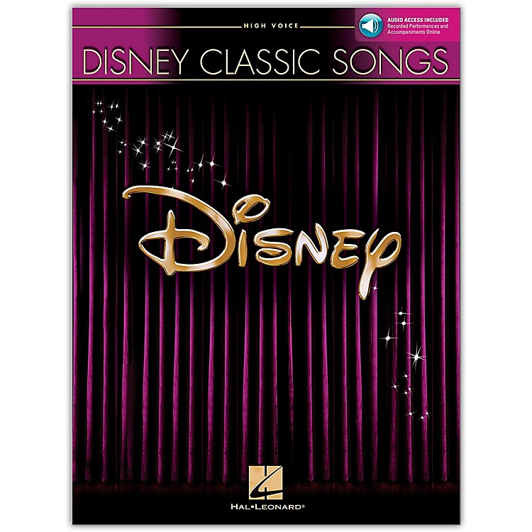 Hal Leonard Disney Classic Songs for High Voice Book/CD